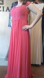 Вечернее коралловое платье на выпускной или торжественное мероприятие