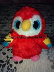нереальной красоты игрушка попугайчик -глазастик yoohoo оригинал
