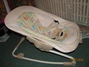 Детский шезлонг /кресло - качалка