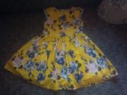 нереальной красоты платье в цветах tu на 6 лет