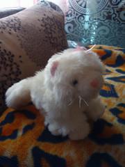 очень красивая мягкая игрушка персидская кошечка