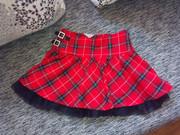 супер классная школьная юбочка с фатиновым подъюпничком lindex