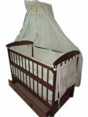 Кроватка Наталка,  матрас кокосовый,  постельный набор 8 элементов