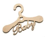 Декоративная вешалка для одежды (плечики) Baby - заготовка,  фанера