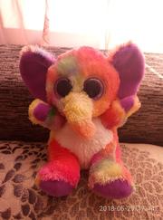 очень красивый разноцветный слоник-глазастик animotsu
