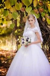Шикарное дорогое свадебное платье!