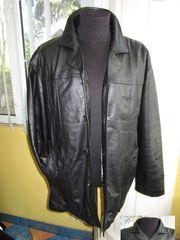 Классическая оригинальная кожаная мужская куртка MAN*S WORLD. Лот 283