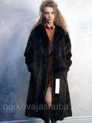 Стильная женская норковая шуба классика размер 48 50