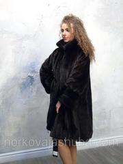 Шикарная женская норковая шуба размер 44 46