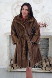 Женская норковая шуба под пояс размер 46 48 распродажа