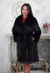 Женская шуба норковая подл пояс размер 42 44