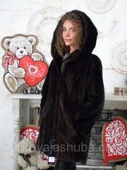 Женская шуба норковая с капюшоном махаон 44 46 48 размеры