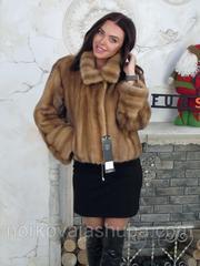 Женская шуба норковая размер 42 44 46 полушубок пастель