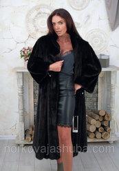 Женская норковая шуба классика размер 56 58