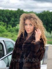 Женская шуба норковая размер 40 42 44 поперечка френч