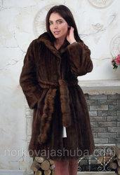 Женская норковая шуба размер 44 46 под пояс