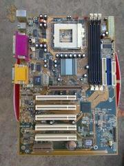 Продам рабочие материнки под 370 AMD,  Intel