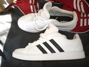 Продам кроссовки ADIDAS GRAND COURT,  новые,  оригинал 100%,  кожаные.