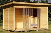 изготовление утепленных будок и вальеров для животных